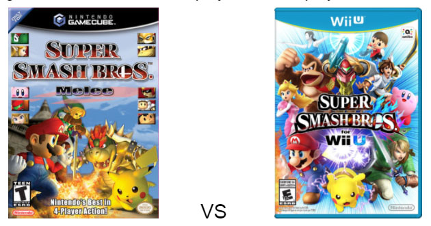 smash bros vs melee